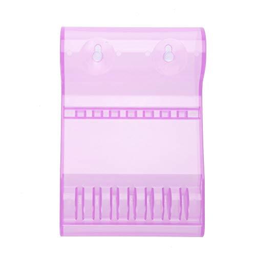 Zerone 6 Grids Boîte de rangement de stockage Ciseaux en plastique Premium et durable pour ranger les tables du salon violet