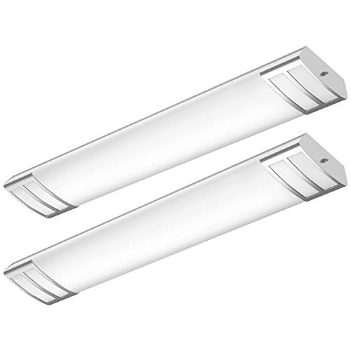 FaithSail 4FT LED Flush Mount Kitchen Light Fixtures 50W 5600lm, 1-10V Dimmable, 4000K, 4 Foot LED Kitchen Lighting Fixtures Ceiling for Craft Room, Laundry, Fluorescent Replacement, 2 Pack