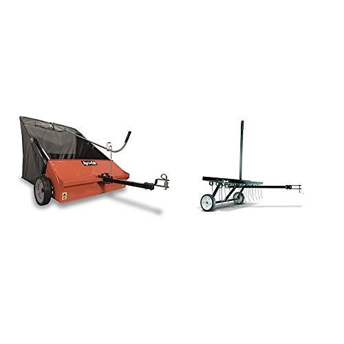 Agri-Fab 45-0492 Lawn Sweeper, 44-Inch & 45-0295 48-Inch Tine Tow Dethatcher,Black,Medium
