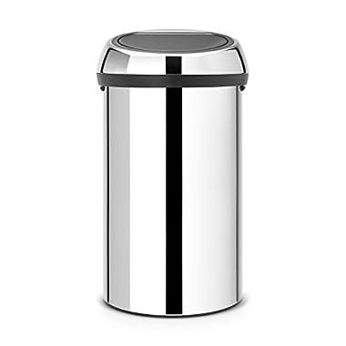 Brabantia 402609 Touch Trash Can, 16 gallon/60 L, Brilliant Steel