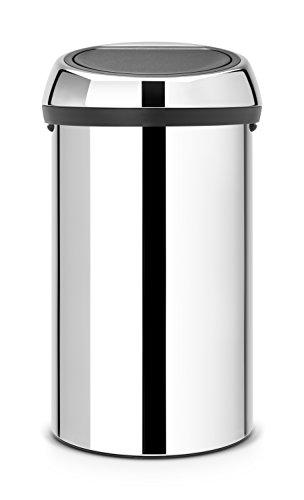 Brabantia 402609 Touch Bin Abfalleimer 60 l, Brilliant Steel
