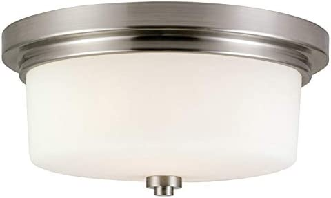 Design House 556654 Aubrey Transitional Indoor Light Dimmable Frosted Glass 2 Light Ceiling product image
