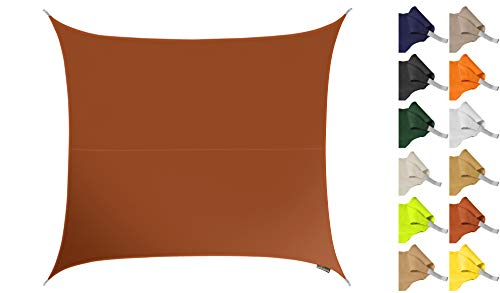 Kookaburra Tenda a Vela Quadrata 3,0m per Feste Resistente all\'Acqua Protezione Anti Raggi 96.5{6d16eaa46f60781662035d4b4d44bcd5fffe6f4aa5ffc88e820784a4e0e482fd} UV per Ombreggiare Il Giardino, Terrazzo o Balcone (Terracotta)