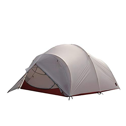 AOGUHN Zelt - Fliegende Wolke 4 Personen Outdoor Doppel Aluminium Mast Zelt super leicht 2D beschichtet Silikon wasserdicht Winddicht Camping, grau