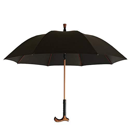 SANUMBRE Regenschirm, Hand-Stick Krücke Langen Griff Trennbar Multifunktion Verstärkte Kufe Dual Use Wanderstock Alte Leute Anti-UV