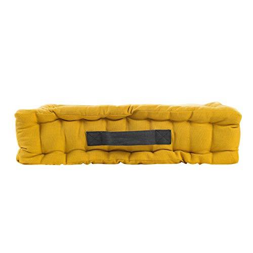 Algodón Interior cojín de Suelo 45 x 45 x 10 cm algodón Pacha Amarillo