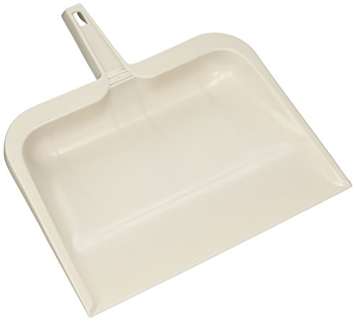 Rubbermaid Dustpan, Small, White, Flexible Plastic Dustpan for Cleaning, Dirt and Debris Removal, Lightweight, Multi-Surface, Non-Scratch, Will Not Warp
