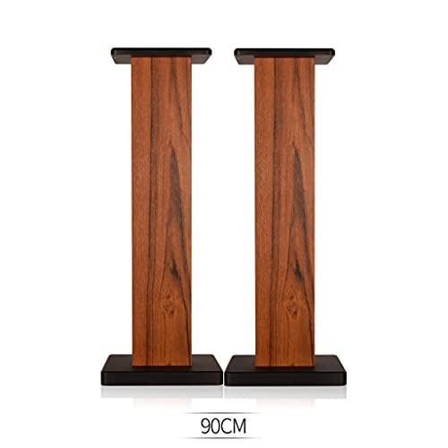 Scaffale audio Staffa per treppiede per altoparlanti in legno per uso domestico Scaffale per libri surround a pavimento Ufficio soggiorno treppiede per altoparlanti Mensola da tavolo in legno