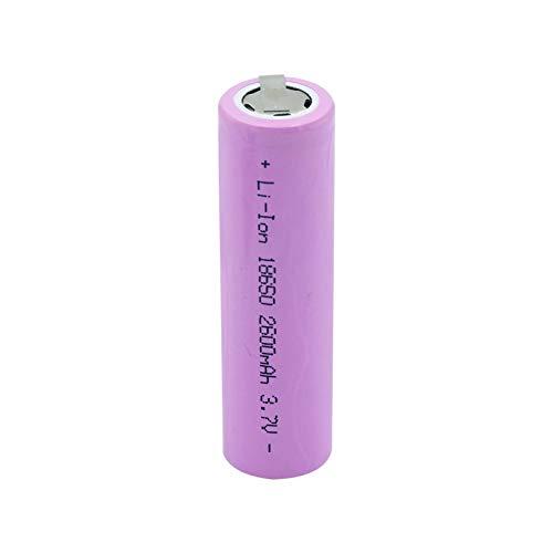 RitzyRose 18500 - Batería de iones de litio de 3,7 V y 2500 mAh, batería recargable LED para linterna eléctrica (2 unidades)