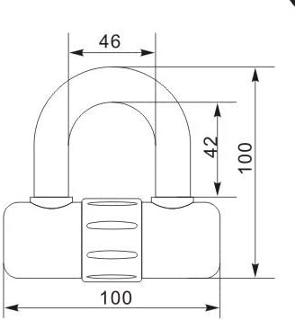 Candado de cadena 100-200 cm x 10 mm de di/ámetro, 120 cm Vinz Kungur Art 3