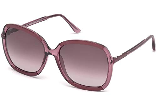Tod's TO0183-5878S Occhiali, Shiny Lilac/Bordeaux, 58/17/135 Donna