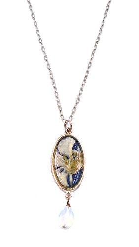 """""""White Larkspur"""" Floral Pendant Necklace by Shari Dixon"""