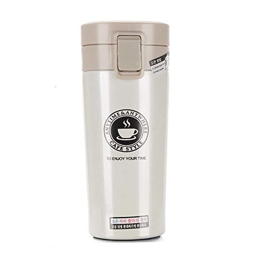 380 ml hoge kwaliteit 2018 dubbele wand roestvrijstalen thermosflessen thermokop koffie thee melk reismok thermol fles nieuw, wit, 380 ml