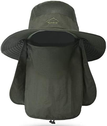 Fishing Hat for Men Women Outdoor UV Sun Protection Wide Brim Hat with Face Cover Neck Flap product image