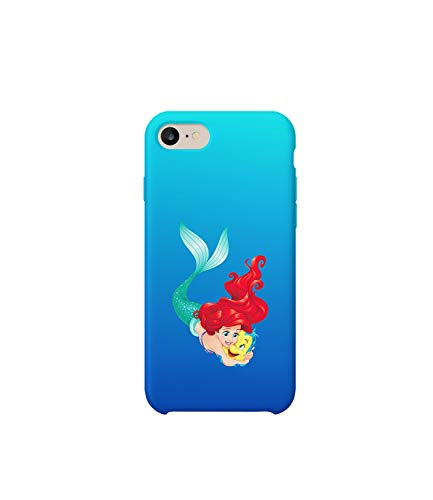 GlamourLab Little Mermaid Ariel Protective Case Cover Hard Plastic Handyhülle Schutz Hülle for iPhone 6 / iPhone 6s Regalo di Natale