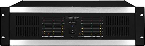 MONACOR STA-1506 Mehrkanal-PA-Verstärker schwarz