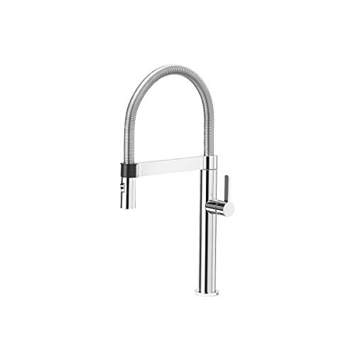 BLANCO, Polished Chrome 441624 CULINA MINI Semi-Pro Kitchen Faucet with Magnetic Handspray, 1.8 GPM