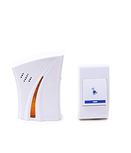PRIZ Wireless Doorbell Kit Over 100 Feet Range 32 Rings Door Bell Chime LED Flash Cordless Wireless Calling Remote Door Bell for Home Shop Office Multi Design