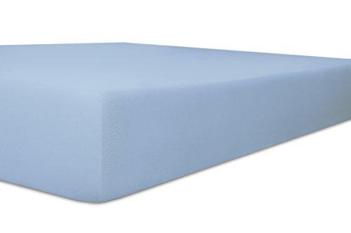 Kneer Spannbettlaken, Spannbetttuch, Easy-Stretch Qualität 25 Größen 180 x 200-200 x 220 cm eisblau