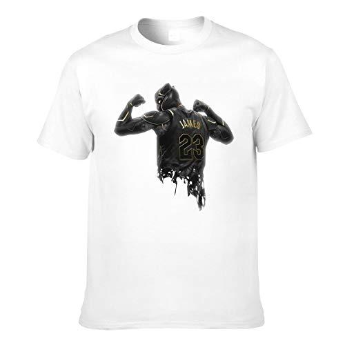 Negro Pa_NTH-Er 23 Número Camiseta de Moda de algodón de Manga Corta para Hombre Negro Grande Blanco