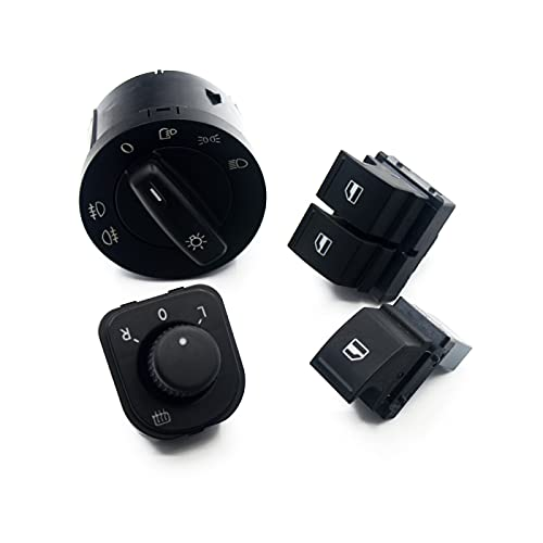 para Caddy, para Jetta Golf 5 MK5 V Puls Passat B6, Juego de Consola de botón de Interruptor de Ventana de Espejo de Faro eléctrico