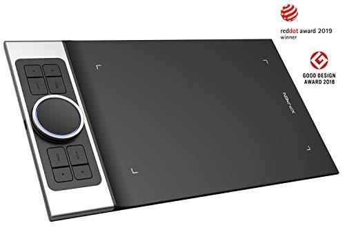XP-PEN Deco Pro_S Tableta Gráfica de Dibujo Profesional con Lápiz Pasivo de 8192 Niveles a La Presión 9 x 5 Pulgadas con 8 Teclas de Acceso Directo Compatibles para Windows y Mac