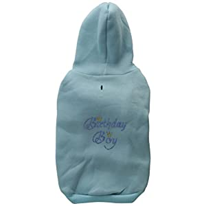Mirage Pet Products 14-Inch Birthday Boy Hoodies, Large, Baby Blue