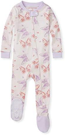 Burt s Bees Baby Baby Girls Pajamas Zip Front Non Slip Footed Sleeper Pjs 100 Organic Cotton product image