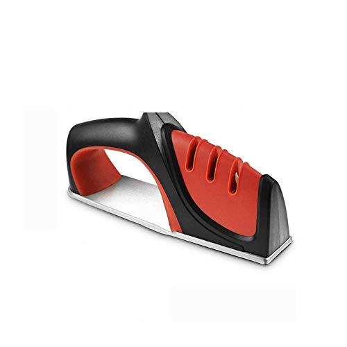 ELXSZJ XTZJ Sacapuntas de Cuchillos Premium, Diamante de 3 etapas de Trabajo Pesado Realmente Funciona Realmente para Cuchillos de cerámica y Acero, Tijeras.Resta masiva fácilmente para afilar