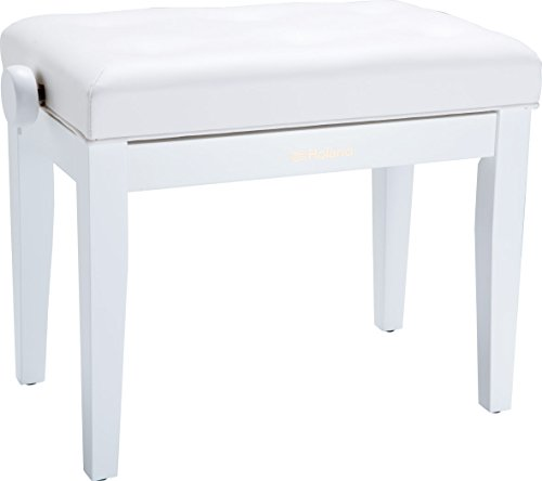 Roland RPB-300 Piano Keyboard Bench, Adjustable Height 18.9-22.8-Inch, Satin White
