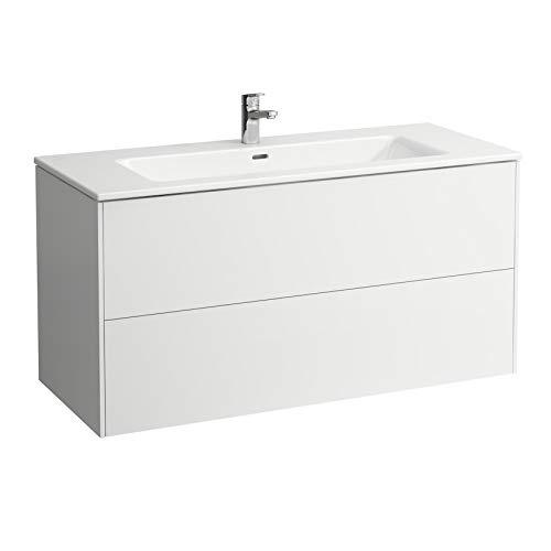 Laufen Pro S Set Base, Waschtisch, 1 Hahnloch, Überlauf, inkl. Waschtischunterschrank, 2 Schubladen, 1200x500mm, Farbe: Multicolor