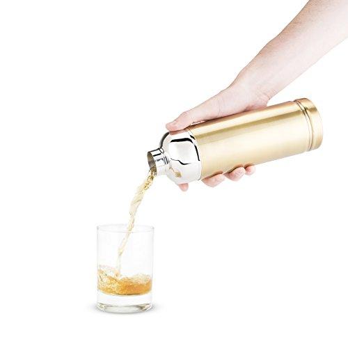 Foster & Rye 25 oz Stainless Steel Bullet Shaker, Gold