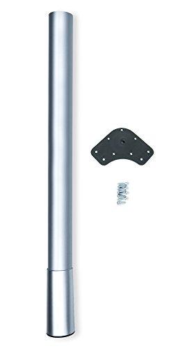 Emuca 2034725 Pata para mesa altura regulable 60x687x80mm en acero pintado aluminio, gris antracita
