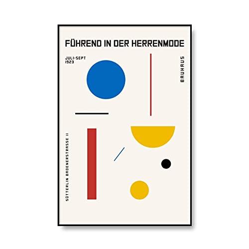 Exposición de la Bauhaus cuadros de arte de pared geométricos abstractos, carteles e impresiones minimalistas, pinturas de lienzo sin marco A1 15x20cm