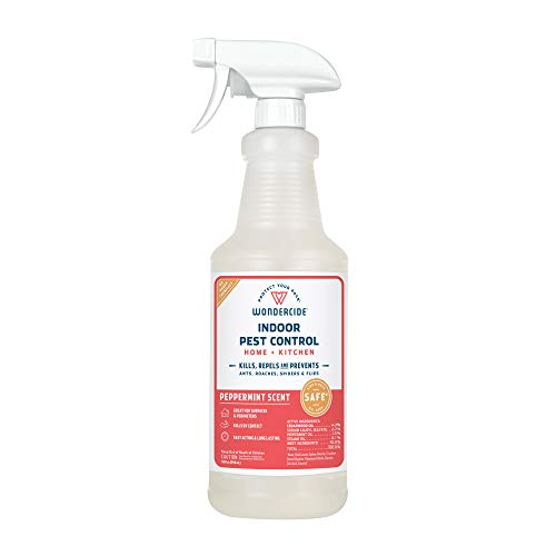 Wondercide Natural Products - Indoor Pest Control Spray for Home and Kitchen - Fly, Ant, Spider, Roach, Flea, Bug Killer and Insect Repellent - Eco-Friendly, Pet and Family Safe — 32 oz Peppermint