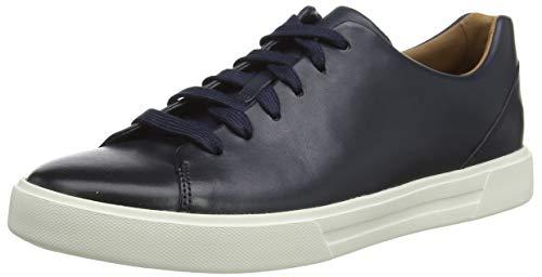 Clarks Men's Un Costa Lace Sneaker, Blau (Navy Leather), 44 EU