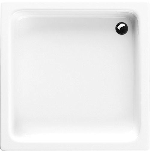 Acryl-Duschwanne 90x90x26 cm Duschtasse Grawello rechteckig Duschkabine Styroporträger Sanitär-Acryl Duschbecken stabil weiß befliesbar+ Viega Domoplex
