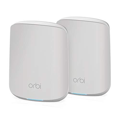 NETGEAR Système WiFi 6 Mesh Orbi (RBK352), Pack de 2, Routeur WiFi 6 AX1800, WiFi nouvelle génération, WiFi jusqu'à 1.8...