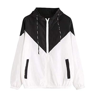 Womens Windbreakers Light Weight Outdoor Hooded Sun Protect Windbreaker Sports Outwear Jacket