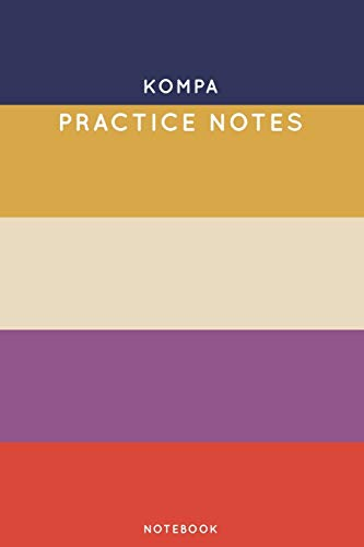 Kompa Practice Notes: Cute Stripped Autumn Themed Dancing Notebook for Serious Dance Lovers - 6x9 100 Pages Journal