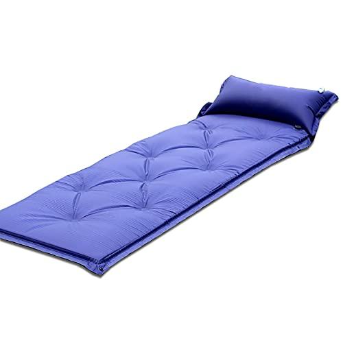 FKRAINSAN Cuscino Gonfiabile Automatico con Cuscino, Pavimento Tenda da Campeggio all'aperto, Cuscinetto a Prova di umidità,Blu