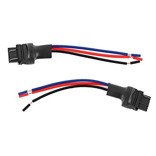 2Pcs 3157 Conector de enchufe macho Cable adaptador de soporte de bombilla de coche Adecuado para luces de señal de giro Luces de freno Luces traseras Luces de circulación diurna Adaptación de plástic