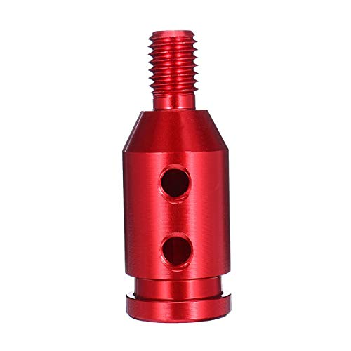 DIBAO Auto-Handbuch Miniskirt Schaltknauf Boot-Adapter for M10 x 1,5 Gewinde (Color : Red)
