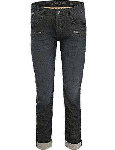 Summum Woman Blue Daze Jeans schwarz goldig mit Seitenstreifen (40)