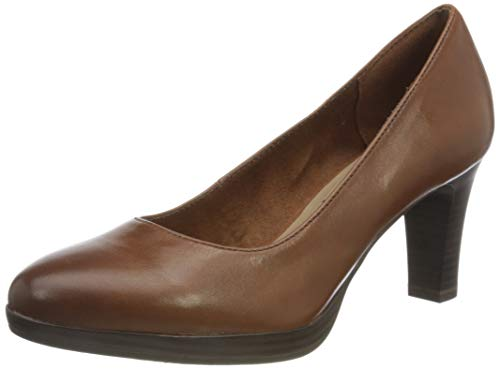 Tamaris Damen Pumps, Brandy, 40 EU