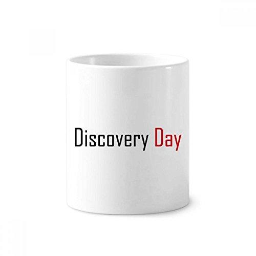 Feiern Kanada Discovery Tag Segen Keramik Zahnbürste Stifthalter Becher weiß Tasse 350ml Geschenk