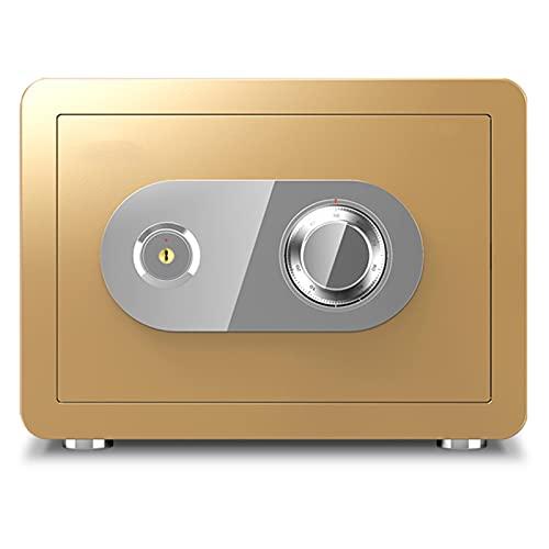Caja Fuerte Casillero Pequeño De Acero Seguro, Impermeable, Resistente Al Fuego Y Seguro, Adecuado para El Hogar, La Oficina Y El Hotel(Size:30cm)