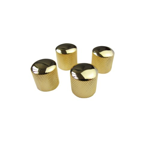 Musiclily Metal Dome Control Knobs for Electric Guitar or Bass, Black (Pack of 4)