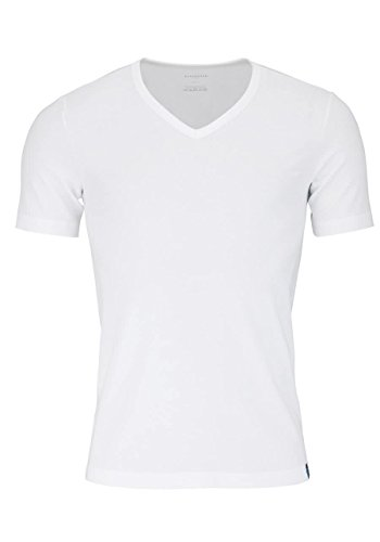 Schiesser Herren Shirt 1/2 Arm Unterhemd, Weiß, 4