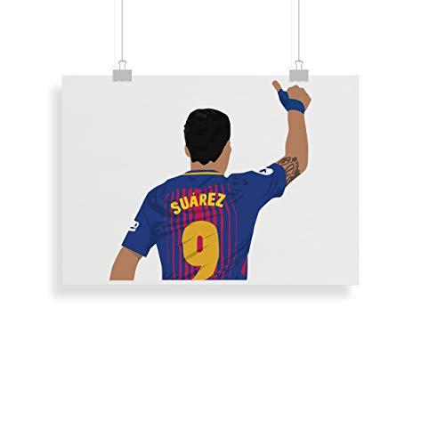 Luis Suarez Poster - Drucken - Alternative Fußball - Wandkunst - Verschiedene Größen (Rahmen Nicht Inbegriffen)